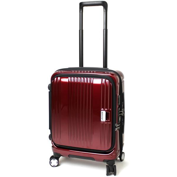【送料無料】BERMAS EURO CITY 38L 横開きフロントオープン45c(スーツケース) 60290-30 レッド 【機内持込対応可】
