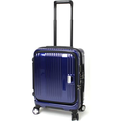 【送料無料】BERMAS EURO CITY 38L 横開きフロントオープン45c(スーツケース) 60290-60 ネイビー 【機内持込対応可】