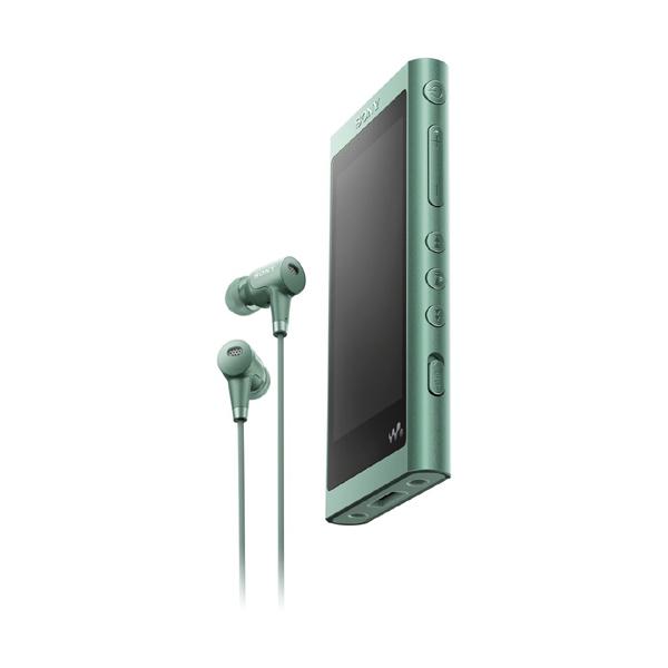 【送料無料】SONY NW-A55HN-G ホライズングリーン Walkman(ウォークマン) A50シリーズ [ハイレゾ音源対応 ポータブルオーディオプレーヤー (16GB) IER-NW500N同梱モデル]
