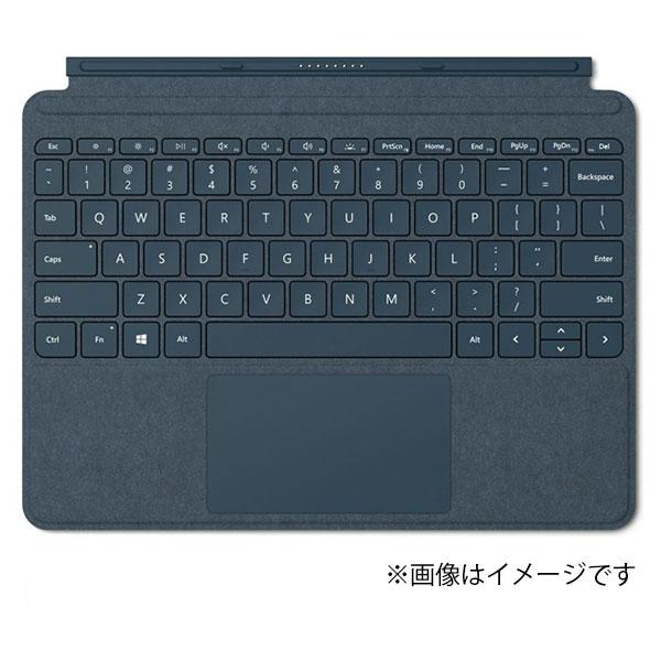 マイクロソフト KCS-00039 コバルトブルー Surface Go Signature タイプ カバー Microsoft 純正 日本語キーボード ガラス製トラックパッド 独立型キーボード マグネット着脱 アルカンターラ素材
