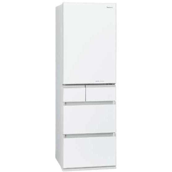 【送料無料】PANASONIC NR-E454PXL-W スノーホワイト [冷蔵庫 (450L・左開き)] 【代引き・後払い決済不可】【離島配送不可】