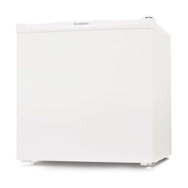 【送料無料】S-cubism Electric R-46WH ホワイト [冷蔵庫(46L・左右フリー)]
