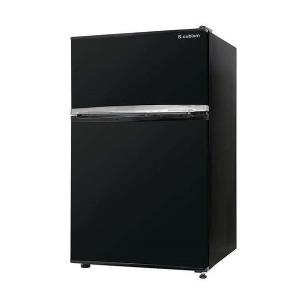 【送料無料】S-cubism Electric RM-90L02BK ブラック [冷蔵庫(90L・左右フリー)]