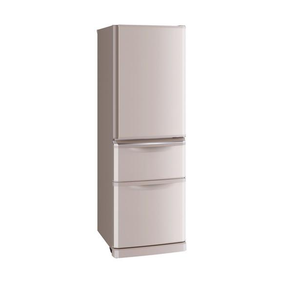 【送料無料】MITSUBISHI MR-C37D-P シャンパンピンク [冷蔵庫(370L・右開き)] 【代引き・後払い決済不可】【離島配送不可】