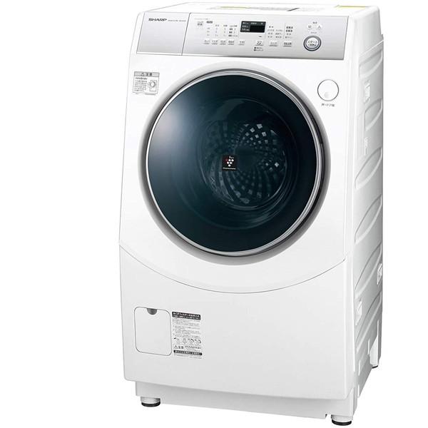 【送料無料】SHARP ES-H10C-WL ホワイト系 [斜め型ドラム式洗濯乾燥機 (洗濯10.0kg /乾燥6.0kg) 左開き]