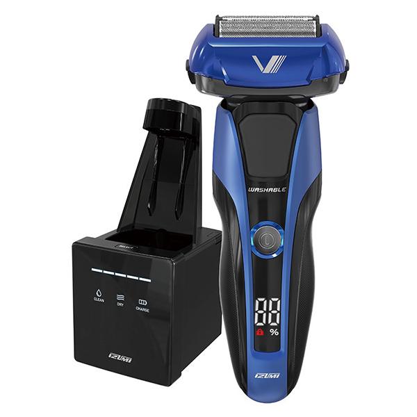 【送料無料】イズミ IZF-V978-A ブルー Z-DRIVE [往復式シェーバー(4枚刃・充電交流式) 洗浄機付属]