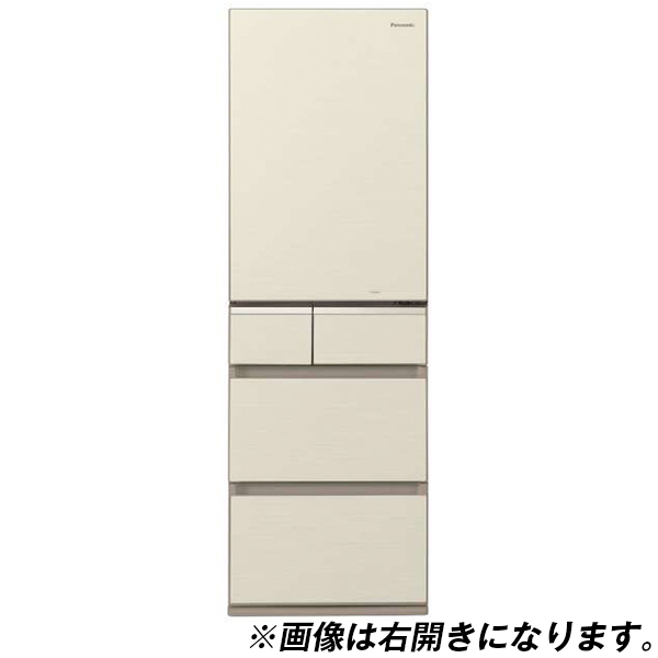 【送料無料】PANASONIC NR-E414GVL-N シャンパンゴールド [冷蔵庫(406L・左開き)]