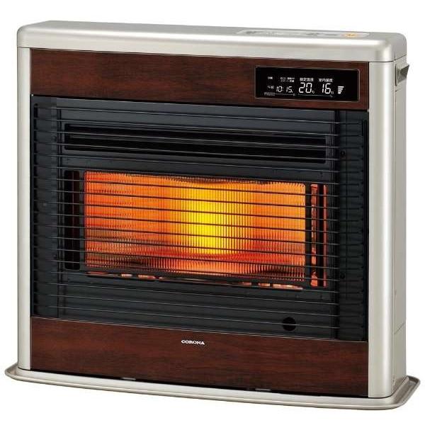 【送料無料】コロナ UH-FSG7018K-MN ウッディゴールド スペースネオ床暖 [FF式輻射床暖ストーブ(木造:18畳/コンクリート:29畳/別置きタンク式)]