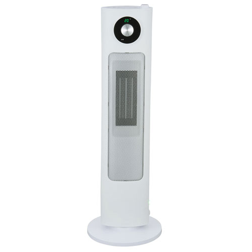 【送料無料】セラミックヒーター 加湿 ユアサプライムス YSL-S122YH-W ホワイト 加湿器付セラミックヒーター(1200W)首振り 切りタイマー リモコン付き
