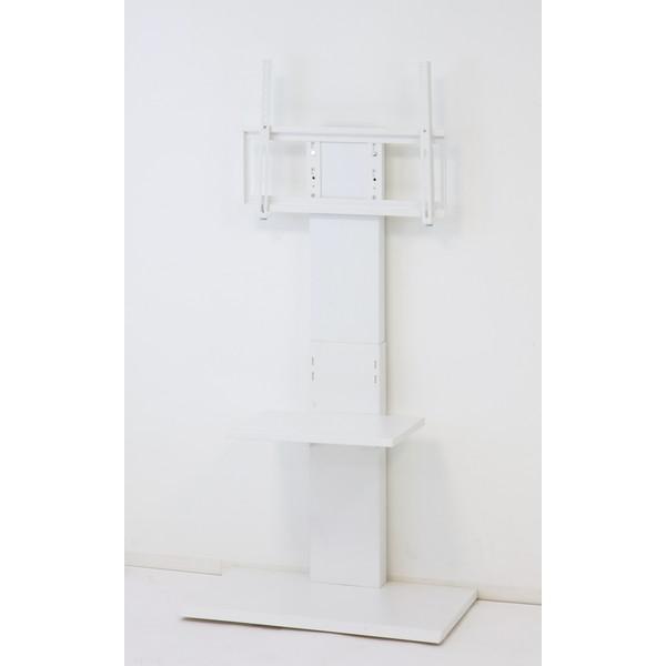 クロシオ 32646 壁掛け風テレビ台 ハイ ホワイト
