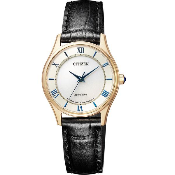 【送料無料】CITIZEN(シチズン) EM0402-13P ホワイト×ブラック [エコドライブ腕時計 (レディースウオッチ)ウインター限定 ペアモデル]
