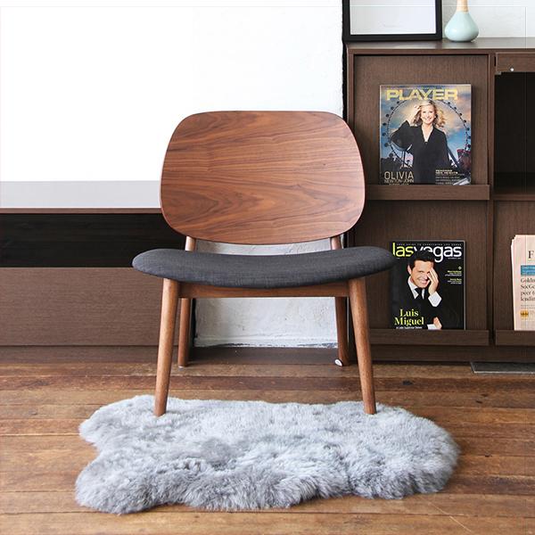 【送料無料】ラウンジチェア ダイニングチェア チェア 椅子 イス ウォールナット リビング 北欧 木製 ダークブラウン NC-2818DBR【同梱配送不可】【代引き不可】【沖縄・北海道・離島配送不可】