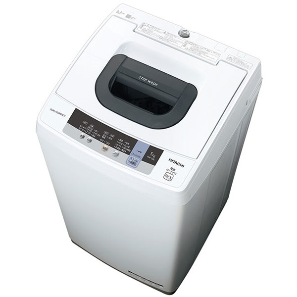 【送料無料】日立 NW-50C(W) ピュアホワイト [簡易乾燥機能付洗濯機(5kg)]