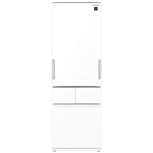 冷蔵庫 シャープ SHARP SJ-GT42E-W 白 ホワイト 415L 400L 右開き 左開き 両開き どっちもドア プラズマクラスター 節電 同棲 カップル 家族