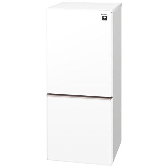 【送料無料】SHARP SJ-GD14E-W クリアホワイト [2ドア冷蔵庫 (137L・つけかえどっちもドア)]