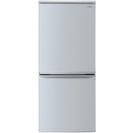 【送料無料】小型冷蔵庫 シャープ SHARP SJ-D14E-S シルバー 一人暮らし 単身 137L 140L 小型 2ドア シンプル おしゃれ 右開き 左開き どっちもドア シンプル