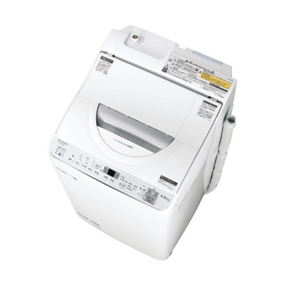 洗濯機 シャープ SHARP ES-TX5C 白 ホワイト 縦型衣類乾燥機 洗濯5.5kg 乾燥3.5kg 一人暮らし 二人暮らし 時短 コンパクト
