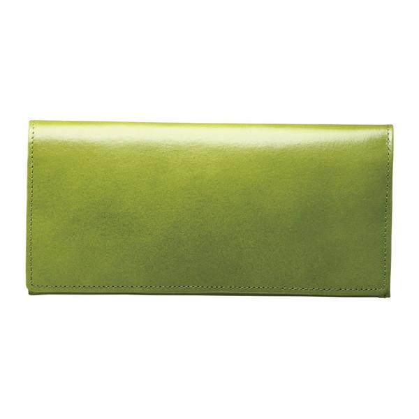 【送料無料】手塗りオイルレザー ササマチ長財布 グリーン TA36-03