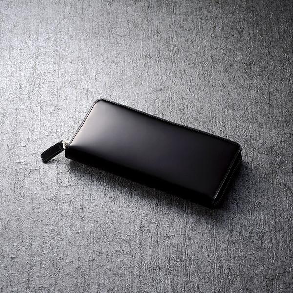 【送料無料】トワクレ コードバン長財布(ブラック) 63TC33-10