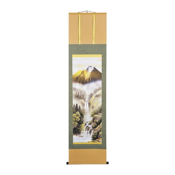 【送料無料】宇田川彩悠 掛軸(尺三)「金富士山水」 113524