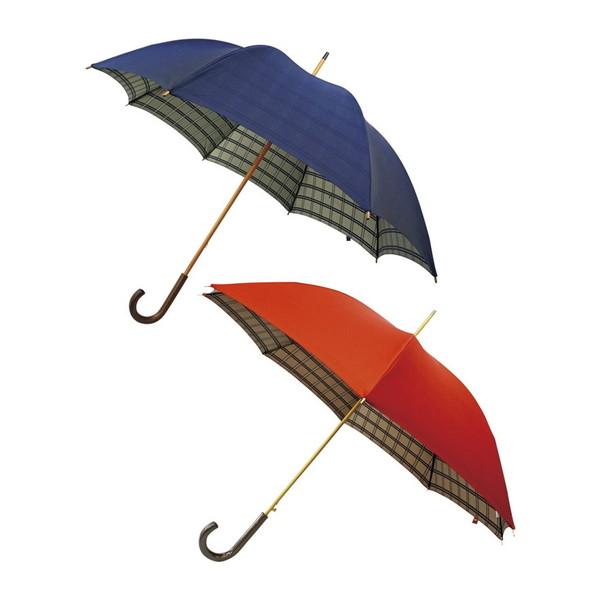 【送料無料】甲州織 両面裏格子長傘2本セット UK300B
