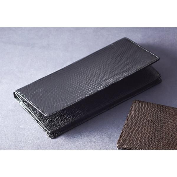 【送料無料】リザード長財布 ブラック S-NOM15397BK