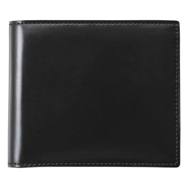 【送料無料】コードバン二つ折財布(ブラック) S-NOM153102BK