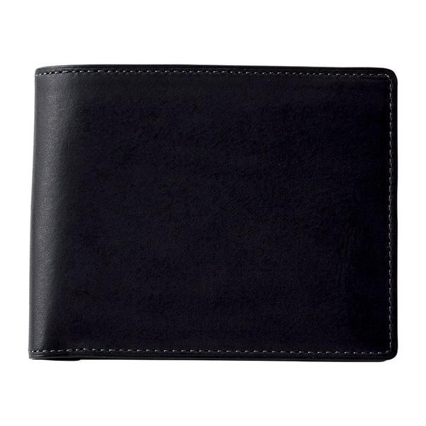 【送料無料】イルムス 折財布 ブラック S-IL153105BK