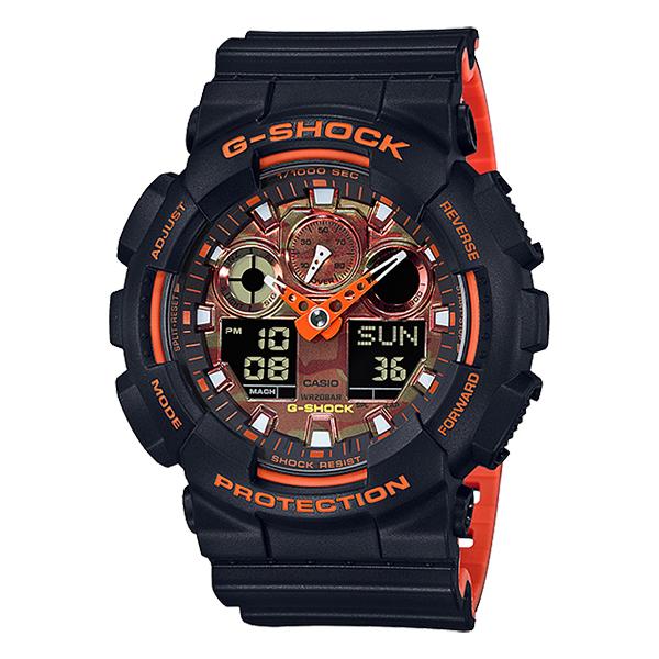 【送料無料】CASIO(カシオ) GA-100BR-1AJF G-SHOCK BRIGHT ORANGE COLOR [クォーツ腕時計(メンズ)]