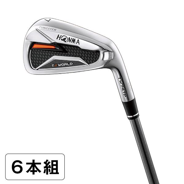 本間ゴルフ(HONMA) ツアーワールド TW747 P アイアンセット6本組(#5-#10) N.S.PRO 950GH スチールシャフト フレックス:S 【日本正規品】