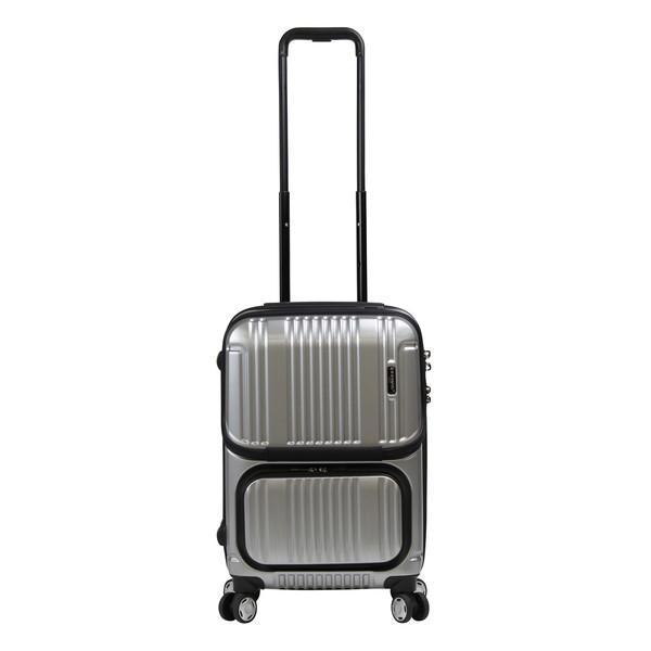 【送料無料】BERMAS INTER CITY 2Pトップオープン ファスナー48c(スーツケース) 60279-22 シルバー 【機内持込対応可】 容量:35L
