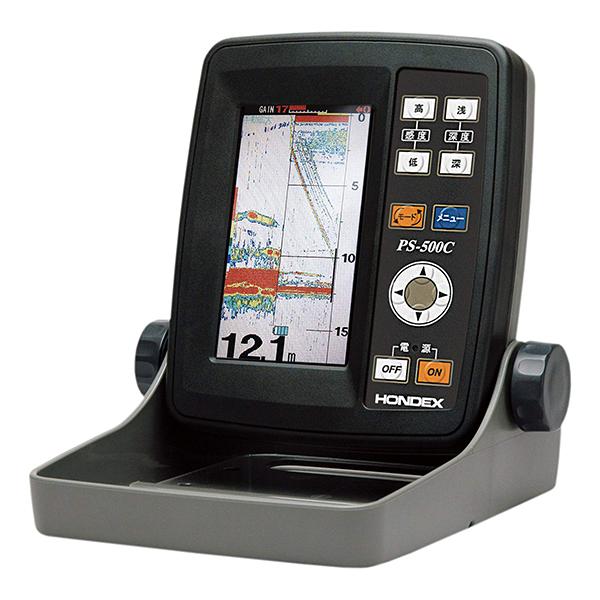 【送料無料】HONDEX PS-500C TD7 ワカサギパック 4.3型ワイドカラー液晶ポータブル魚探