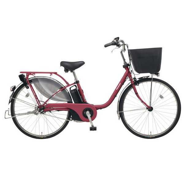 【送料無料】PANASONIC BE-ELE635-R マットルージュ ビビ・EX [電動アシスト自転車(26インチ)]【同梱配送不可】【代引き不可】【本州以外配送不可】