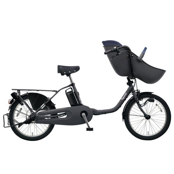 【送料無料】PANASONIC BE-ELFE03-N マットディープグレー ギュット・クルーム・EX [電動アシスト自転車(20インチ)]【同梱配送不可】【代引き不可】【本州以外配送不可】