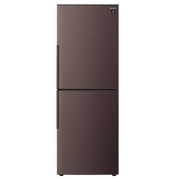 【送料無料】冷蔵庫 シャープ SHARP SJ-PD28E-T ブラウン 280L プラズマクラスター 右開き 節電 メガフリーザー 脱臭 抗菌 同棲 カップル 2人暮らし 2ドア