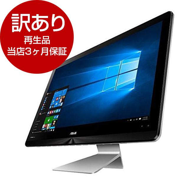【送料無料】【再生品 当店3ヶ月保証付き】ASUS ZN241ICUK-RA002TS グレー Zen AiO [デスクトップパソコン(23.8型液晶 HDD1TB+SSD256GB)]【アウトレット】