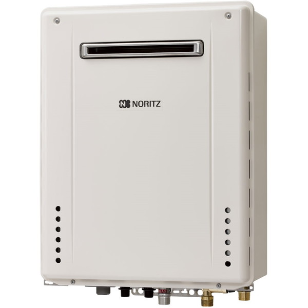 NORITZ GT-2460SAWX-PS-1 BL-13A ホワイト [ガスふろ給湯器 (都市ガス用 PS標準設置形(屋外設置壁掛型) 自動湯はりオートタイプ 24号)]
