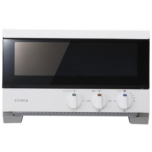 【送料無料】siroca ST-2A251(W) ホワイト すばやき [プレミアムオーブントースター(2枚焼き)]