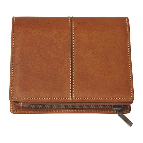 【送料無料】日本製牛革二つ折れ財布 K18-244