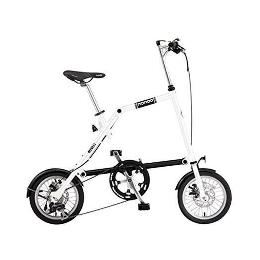 【送料無料】nanoo FD-1408 ホワイト(23635) [折りたたみ自転車(14インチ・8段変速)]【同梱配送不可】【代引き不可】【沖縄・離島配送不可】