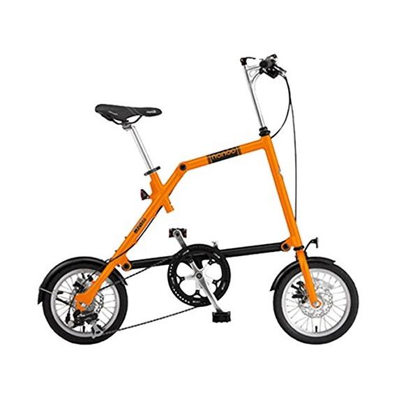 【送料無料】nanoo FD-1408 オレンジ(23633) [折りたたみ自転車(14インチ・8段変速)]【同梱配送不可】【代引き不可】【沖縄・離島配送不可】