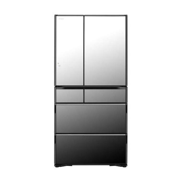 【送料無料】日立 R-WX74K(X) クリスタルミラー [冷蔵庫(735L・フレンチドア)] 【代引き・後払い決済不可】【離島配送不可】