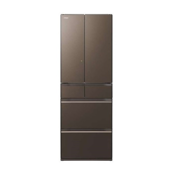 【送料無料】日立 R-HW52K(XH) グレイッシュブラウン [冷蔵庫(520L・フレンチドア)] 【代引き・後払い決済不可】【離島配送不可】