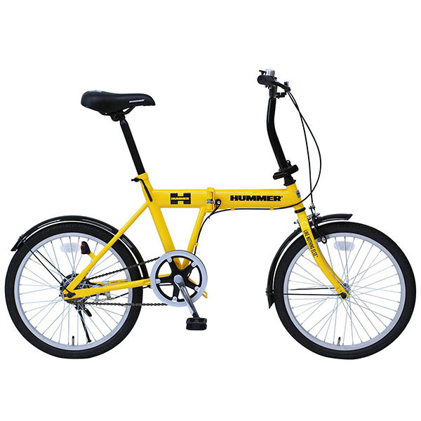 【送料無料】ハマー MG-HM20G イエロー [折りたたみ自転車(20インチ)]【同梱配送不可】【代引き不可】【沖縄・北海道・離島配送不可】