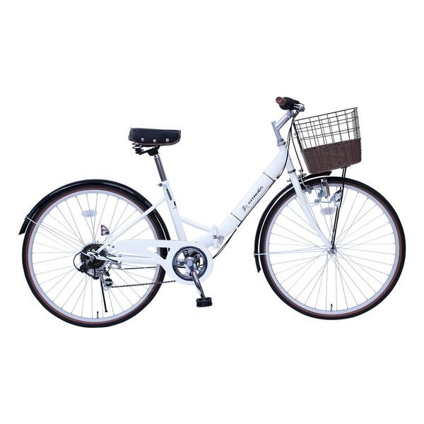 CITROEN MG-CTN266G バニラホワイト [折りたたみ自転車(26インチ・6段変速)] 【同梱配送不可】【代引き・後払い決済不可】【沖縄・北海道・離島配送不可】