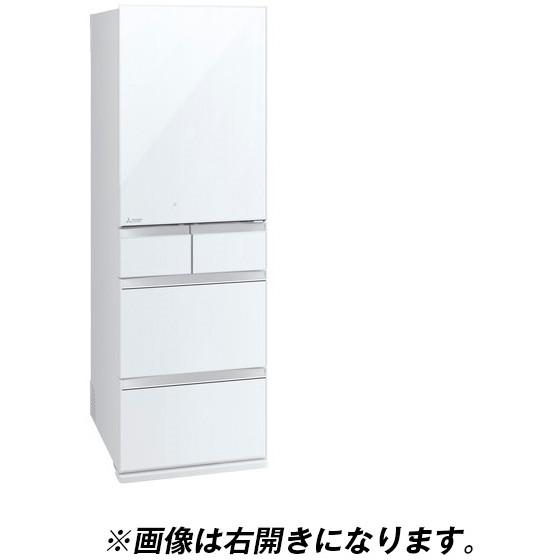 【送料無料】MITSUBISHI MR-MB45EL-W クリスタルピュアホワイト 置けるスマート大容量 MBシリーズ [冷蔵庫(451L・左開き)] 【代引き・後払い決済不可】【離島配送不可】