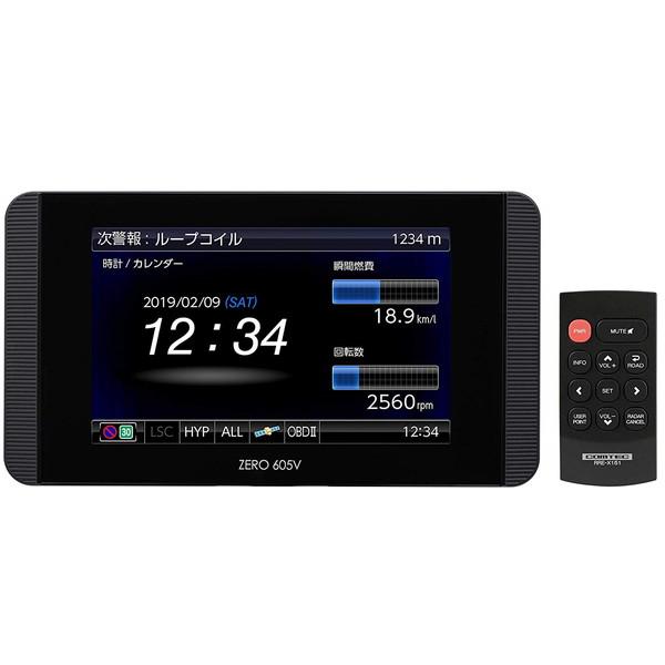 コムテック ZERO605V [GPSレーダー探知機(3.2型・OBD2対応・リモコンモデル)]