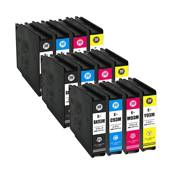 【送料無料】ウルマックス IC4CL93L ×3 / 4色セット EPSON (エプソン) 互換インク 全色顔料【同梱配送不可】【代引き不可】【沖縄・離島配送不可】