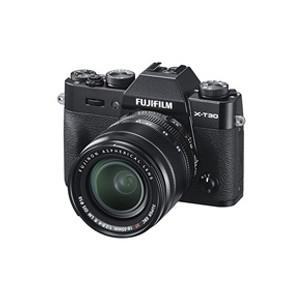 【送料無料】富士フィルム X-T30 XF18-55mmレンズキット ブラック [ミラーレス一眼カメラ(2610万画素)]