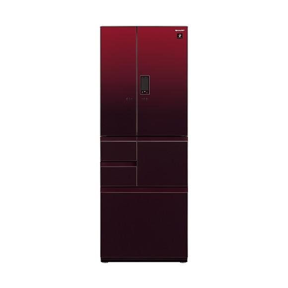【送料無料】SHARP SJ-GA55E-R グラデーションレッド [冷蔵庫(551L・フレンチドア)]